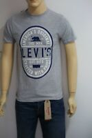 LEVIS D3122 Men's T-Shirt Graphic print Short sleeve crewneck All Sizes Grey New