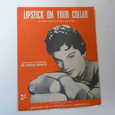 Songsheet Rossetto sul colletto CONNIE FRANCIS 1959