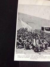 m9-7 Ephemera 1940s Ww2 Picture Pantellaria Sicily Italian POWs