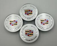 SET 4 Wheel Emblem Center Hub Cap Cadillac 66MM Silver Crest 9597375 ATS CTS XTS