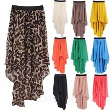 Chiffon Regular Size Asymmetrical Skirts for Women