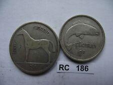 IRELAND. IRISH FREE STATE. 1934  2 SILVER COINS: HALF CROWN+FLORIN #RC186