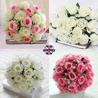18 Heads Bunch Artifical Peony Silk Flower Bouquet Hydrangea Wedding Home Decor
