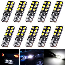 10X T10 12-SMD LED Canbus Error Free Silica Light Bulb 6000K W5W 194 168 2835