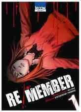 manga Re/Member Tome 1 Seinen MURASE Katsutoshi Welzard Ki-Oon ! horreur カラダ探し