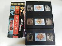 Ronin + Negoziatore + Un crimen perfecto Cassetta 3 X VHS Tape Robert de Niro