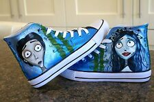 The Corpse Bride inspired High Tops Hand Painted Made To Order