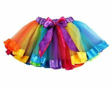 RAINBOW TUTU SKIRT GIRLS Petticoat Fancy Dress Princess Dance Kids Ballet  UK 01