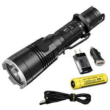 NiteCore MH27 1000 Lumen Rechargeable LED Flashlight w/ WRGB LEDs, 3400mAh 18650