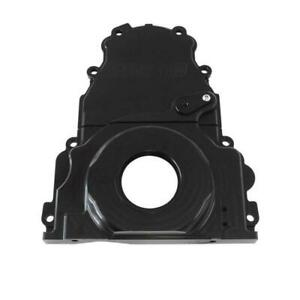 Aeroflow Holden Chev LS V8 Billet 2 Piece Timing Cover Black Anodised
