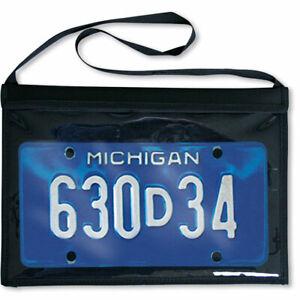 Test Drive Demo Car Dealer License Plate Tag Bag Vinyl Mount Holder with Straps
