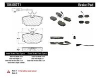 Disc Brake Pad Set Rear Centric 104.08771