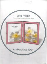 Lura Frame Swing Design Double Foldable 5 x 7  Baby Pink Picture Photo
