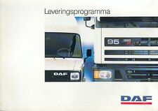 DAF Trucks Leveringsprogramma Prospekt NL 1987 brochure Lkw Lastwagen Holland