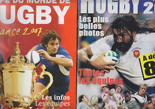 C1 RUGBY Coupe du Monde 2007 Paris LOT DE 2 Revues MAGAZINE OFFICIEL