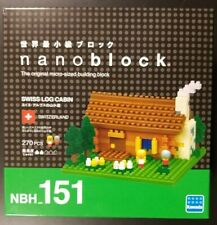 Nanoblock-Swiss Log Cabin-151- micro sized Building/Model Set-270 pieces- Kawada