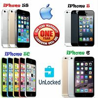 APPLE IPHONE 5C / 5 / 5S / 6 - 16GB - 32GB - 64GB - 128GB (UNLOCKED)  -