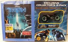 RARE DISNEY TRON LEGACY BLU RAY DVD + DVD DIECAST LIGHT CYCLE WALMART SEALED
