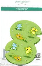 """Frog and Lilypad Large Sticker 2 Count 5X3.5"""" Party Decor Supply School Lily Pad"""