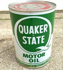 Vintage Quaker State Motor Oil Quart Unopened Refined From Pennsylvania Nice!!