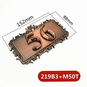 Two Digits ABS Plastic Imitation Metal Bronze House Number Custom Sign Door New