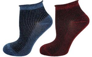 Mysocks 2 Pairs Trainer Socks Glitter