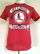 VINTAGE 1980's ST. LOUIS CARDINALS MLB BASEBALL RED T-SHIRT MEN'S SIZE SMALL USA