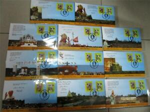 set of 11 POPE JOHN PAUL 11 death anniversary PHILIPPINES FDC complete