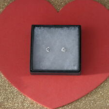 Nice Earrings With cubic zirconia 1 Gr. 0.6 Cm. Wide In Gift Box