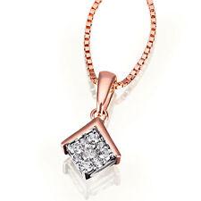 Goldmaid Goldkette Kette Halskette 585 Rotgold 9 Brillanten 0,14 ct. Echtschmuck