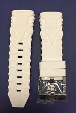 Authentic TechnoMarine Retro White Strap with Silver Buckle 45mm