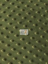 "Dimple Dot Minky Fabric - Dark Olive - 60"" Sew-Soft Baby Fabric Raised Chenille"
