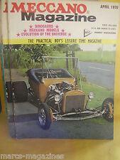 MECCANO APRIL 1970 YAMAHA YG 1K TEST ROBOT VEHICLES LORD ARMSTRONG GM OPEL GT