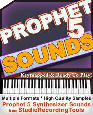 Prophet 5 Synth Sounds REASON REFILL Exs 24 Akai akp Soundfont Wav Samples CD