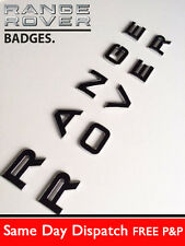 RANGE ROVER Chrome Black Lettering BONNET letters EVOQUE VOGUE SPORT P38 BOOT