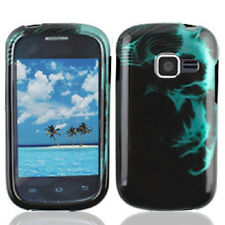 For Samsung Galaxy Centura S738C HARD Case Snap On Phone Cover Fluorescent Skull