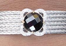 NEW $1750 Charriol 6 Cable Bracelet Black Onyx Diamond Stainless Steel
