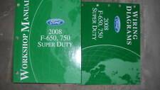 2008 Ford F 650 750 Super Duty Service Shop Workshop Manual Set W EVTM OEM