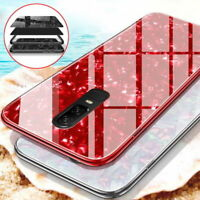 For Samsung S8 S9 Plus Note 9 Case Luxury Marble Tempered Glass Hard Phone Cover