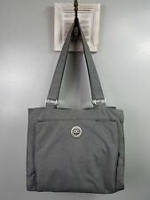 Baggallini purse handbag shoulder bag gray nylon organizer