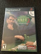 WORLD CHAMPIONSHIP POKER 2 - PS2 - MISSING MANUAL - FREE S/H (B)