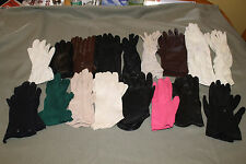 Ladies colored Gloves 17 pairs 1940's-1960's