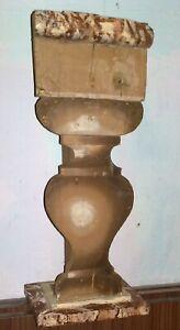 ANTICA COLONNA in legno DIPINTA   colonna secolo XVIII