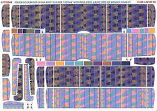 Aviattic Decals 1/32 OAW FOKKER D-VII 5-COLOR LOZENGE w/BLUE TAPES FADED EFFECT