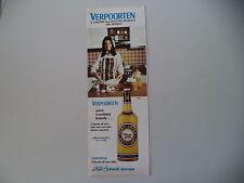 advertising Pubblicità 1974 VERPOORTEN