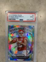 2017 Patrick Mahomes Rookie PSA 9 MINT Panini Prizm Illumination Chiefs RC Card