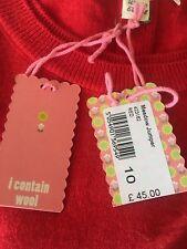 Ex White Stuff, Ladies Red Wool Jumper, RRP £45.00, Size 8,10,12,14,BARGIN.!