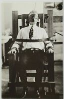 Man in Early Electric Chair Postcard P8