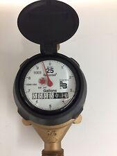 5/8 x 3/4� M-25 Badger Water Meter/scratches on register/nsf-61/gallon Register