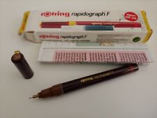 rotring rapidograph F technical drawing pen 0.5mm nos +box penna a china